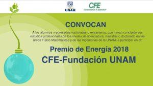 fundaciónCFEUNAM-premio-energía2018-invitación-participación-UNAMGlobal