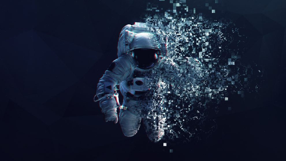 Astronaut-in-outer-space-modern-minimalistic-art-Dualtone-anaglyph-Elements-of-this-image-furnished-by-NASA-UNAMGlobal