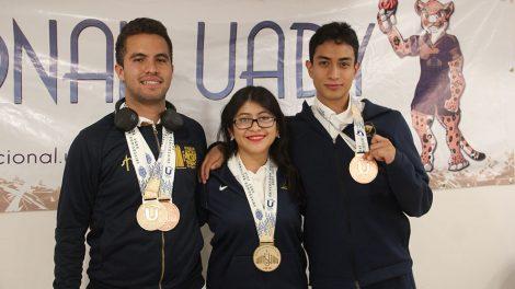 atletas10-auriazules-tercer-lugar-general-universiada2019-UNAMGlobal
